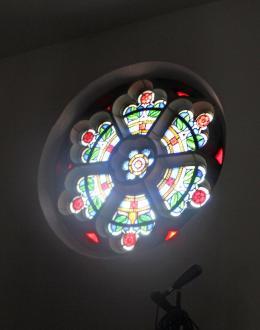 Fensterrosette im Turm