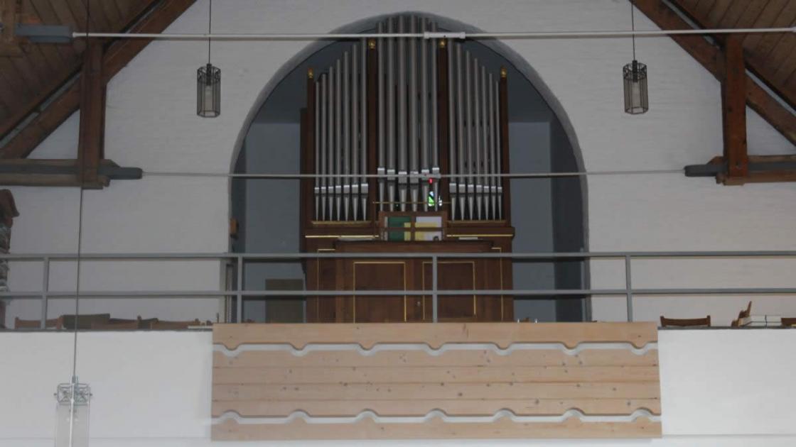 Blick zur Steinmeyer-Orgel von 1914